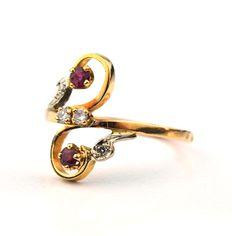Ruby & Diamond 18K/750 Yellow Gold Ring