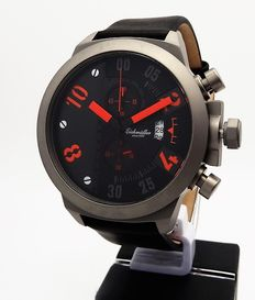 Eichmüller chronograph - men's wristwatch, never worn – approx. 2015