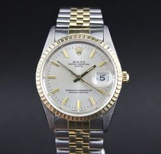 Rolex, date, sapphire, 18 kt gold and steel, 1995s.