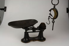Scales with stacking weights and a weigh-beam - early 20th century