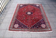 Original Persian Iran Shiraz Ghashghai  rug handknotted 152x200cm around 1990