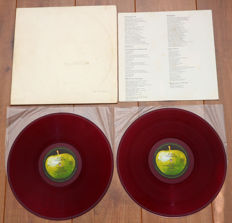 The Beatles- The Beatles aka The White Album 2lp/ 1st Japanese stereo pressing from 1969, RED wax/ No. A 009555 (low number!) & w. poster/ VG+