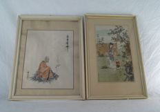 Two frames - China - Mid 20th century