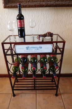 Wine rack for 10 bottles