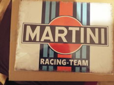 Martini Racing Team, 141 Vintage Garage Advertising Drink, Large Metal/Tin Sign - 21century
