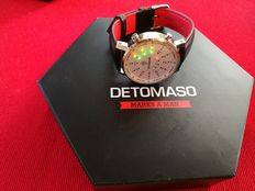 DETOMASO Spacy Timeline 2 men's watches binary LED stainless steel casing silver white