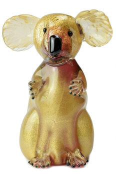 "Francesco Ragazzi (Eugenio Ferro & Co.) - ""Koala"" sculpture with gold leaf"