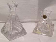 Lot of two Art Deco-Royal Crystal perfume Cristal Rock-Italy