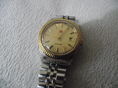 Rado Voyager Day/Date – Gold plated ladies automatic Swiss wristwatch – circa 1970s