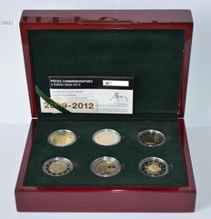 Luxembourg - 2 Euros 2009/2012 (6 different coins) in set