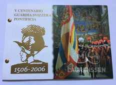 Vatican - 2 Euros 2006 (Swiss Guard) in numis letter with 2 stamps