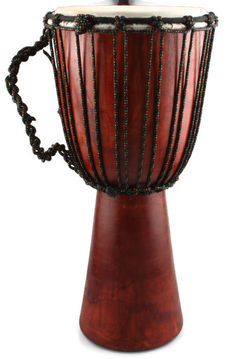 Djembe 60 cm  Ø 25 cm made of Magony wood with goat skin - Indonesia