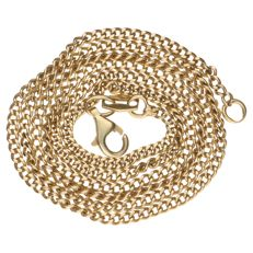 Yellow gold curb link necklace