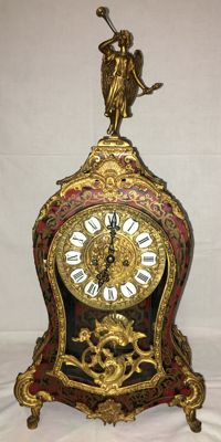 French Boulle-style clock - beginning of the second half of the 20th century,