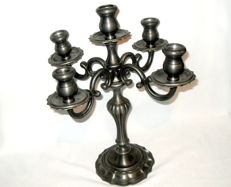 Peltro pewter candlestick.
