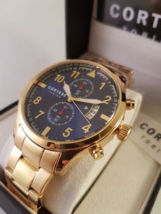Cortese Reale Gold Chronograph  - Men's wristwatch - 2017 Unworn and Complete in Box