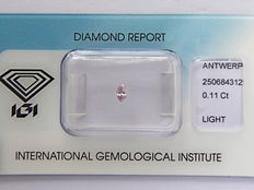 **Natural Fancy Pink Diamond 0.11 ct  with IGI cert ***No minimum price***