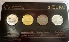 Germany - 2 Euros 2014 'Precious Metals' (4 different coins) in set