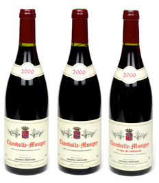 1x 2000 Chambolle-Musigny 1er Cru Les Veroilles & 2x 2000 Chambolle-Musigny, Domaine Ghislaine Barthod – 3 bottles total