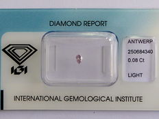 **Natural Fancy Pink Diamond 0.08 ct  with IGI cert ***No minimum price***
