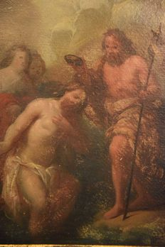Italian artist of the 1800's - Baroque - Baptism of Jesus