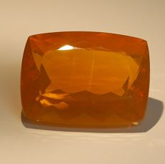 Fire Opal , intensive orange   37,37 ct
