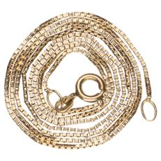 Yellow gold Venetian link necklace