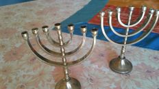 Menorah - antique Jewish candelabra with 7 arms