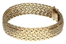 Yellow gold, link bracelet of 14 kt.