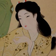 Two dancing beatuties by Uemura Shoen style - Japan - first half 20th century