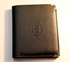 Cartier Paris. Two-Tone Leather Wallet/ Card Holder