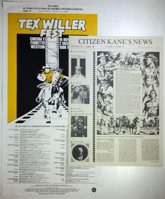 "Tex Willer Fest - poster ""Citizen Kane's News"" + newspaper (1988)"
