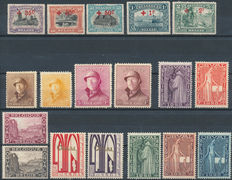 Belgium – 1918/1928 – Selection between OBP 157/159 and 258/266