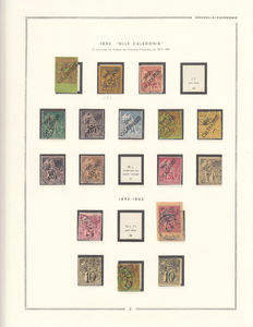 New Caledonia 1859/1948 – Stamps collection.
