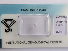 **Natural Fancy Pink Diamond 0.18 ct  with IGI cert ***No minimum price***