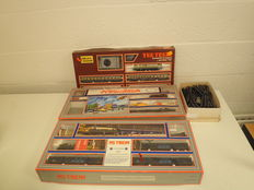 Lima H0 - 2x train sets + boxes with rails, NS complete train and Tee Train and steam train