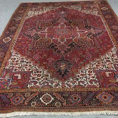 No reserve from 1 euro up ! Large hand-knotted Persian rug - Sharabian Heriz, 359 x 271 cm, approx. 1960