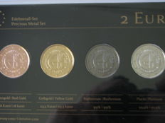 Slovakia - Precious Metal Set - 2 Euro 'Accession to the EU' 2014 (4 different coins)