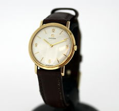 Omega - Vintage Gents Wristwatch, Manual Winding, 9K Solid Yellow Gold - Made in 1965, London.