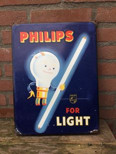 Emaille reclamebord Philips - Periode 1940-1950