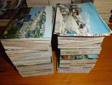 Lot of 1000 cards modern and semi-modern