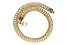 Yellow gold double curb link of 14 kt