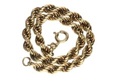 Yellow gold 14 kt rope bracelet
