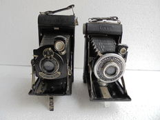 A lot of Kinax Cadet and Kodak No 1 pocket  junior camera .