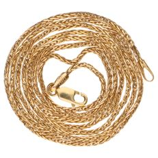 Yellow gold foxtail link necklace