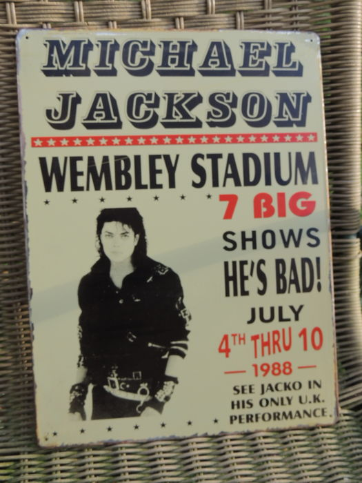 Michael Jackson - Concert Wembley Stadium - 1988 Memorial Sign
