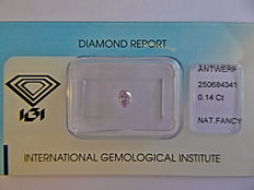 **Natural Fancy Pink Diamond 0.14 ct  with IGI cert ***No minimum price***