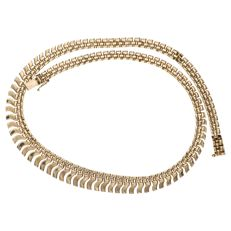 Yellow gold fantasy link necklace in 14 kt - 42.5 cm