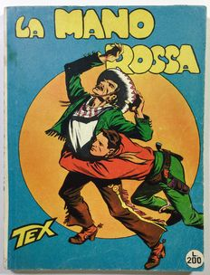 "Tex gigante n. 1 ""La Mano Rossa""  censored version (late 1950s)"