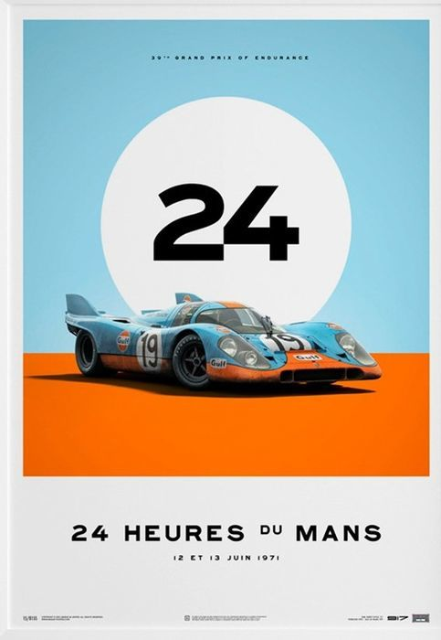 Limited Edition Porsche Collection - fine art print - GULF Porsche 917 24 heures du Mans 1971